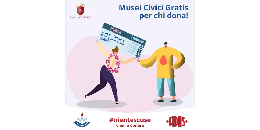 Ingresso gratis ai Musei per chi dona sangue