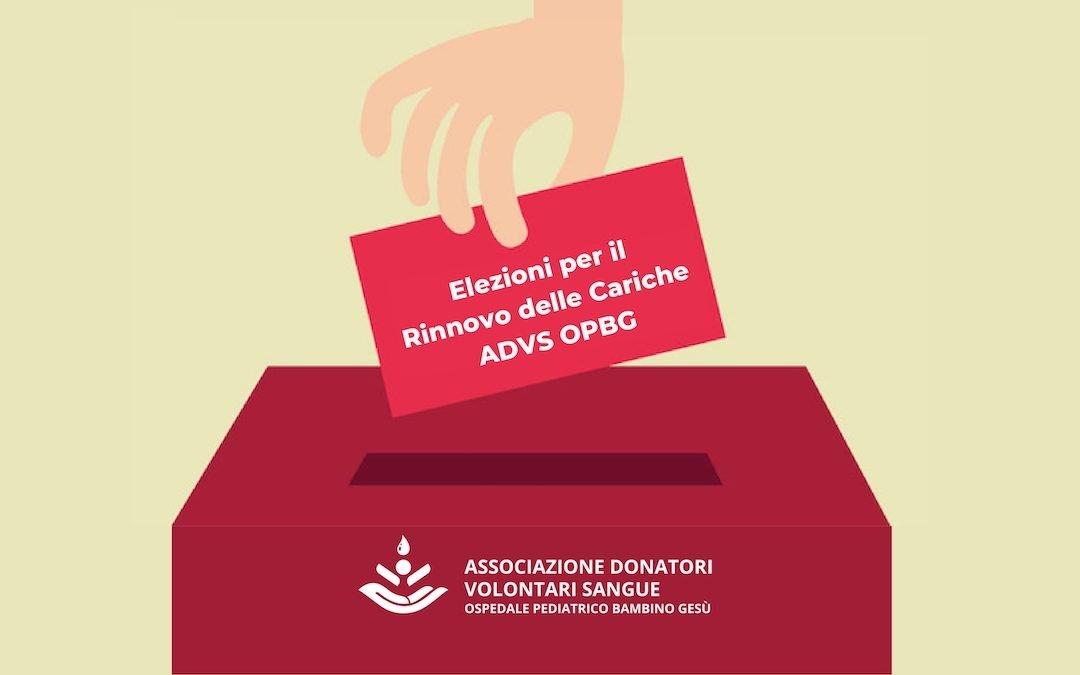 Votazione Rinnovo Cariche ADVS OPBG 6.10.21